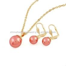 2011 Fashion Pearl Copper Heart Jewelry Set HSXCJS0021