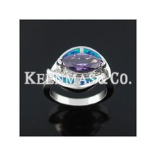 Fashion Ring, Decorated with opal and Zircon, OEM Orders are Welcome