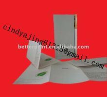 folded sliver/ gold stamping leaflet/ flyer/ bochure