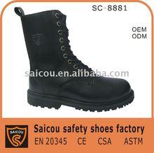 bottes d'armée d'usine d'orteil et chaussures de sûreté en acier (SC-8881)