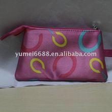 2012 latest hot sale pink satin printing envelope design promotion bags