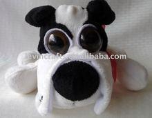 lovely plush dog with big eyes/plush animal