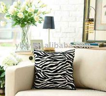 Velvet flocking cushion and cushion cover
