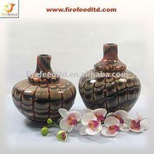 Unique Brown Flower Glass Vase