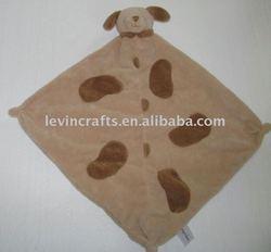 Angel Dear Puppy Dog Soft Blanket Tan Security Lovey