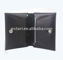 business pu leather name card bag