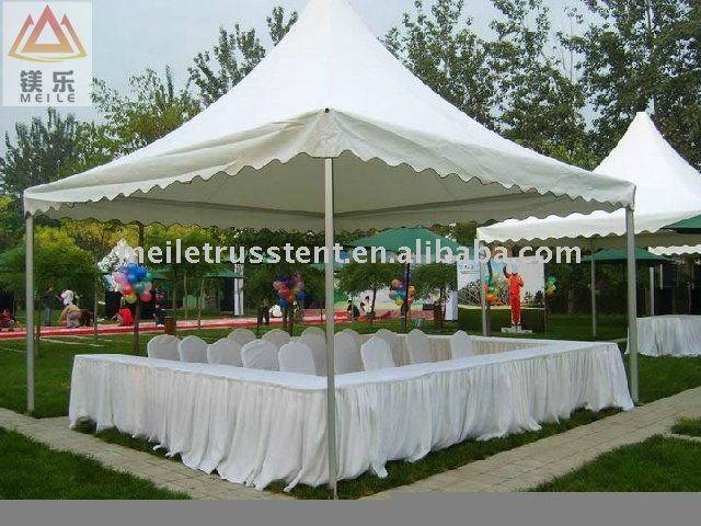 small outdoor wedding party catering display pagoda tent