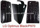 CROCO leather case for lg optimus p970