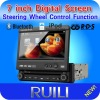 One din car dvd player Compatible with DVD/ VCD/ CD/ MP3/ MP4/ WMA/ JPG/ MPG/AVI/DIVX