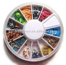 120x DIY Wheel 3D mix animal tiny Nail Art UV Acrylic HN522