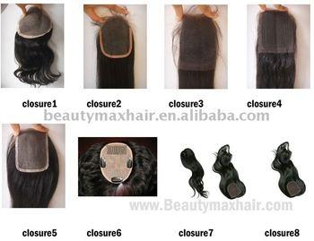 100% remy human hair Closure/Female Toupee