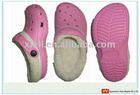 classic garden shoe/ EVA shoes mould/Winter Pink