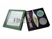 ceramic candle holder, scented candles, incense sticks