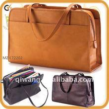 women genuine leather laptop tote bag