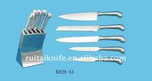 kitchen tool set S/S knife with S/S block steel block
