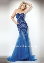2011 Sexy Shining Strapless Mermaid Sequined Prom Dress--PD2053