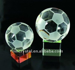 Crystal Soccer Ball with Stand MH-8165