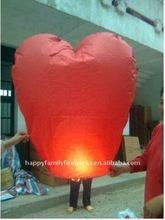 Heart sky lantern