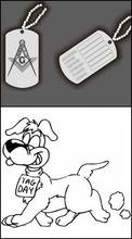 Embossing dog hang tag