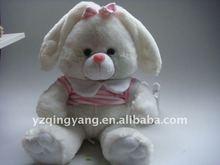 pink plush toy rabbit