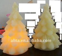 LED Wax Candle(Christmas Tree)