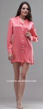 Women's Silk Short Sleeve Nightshirts