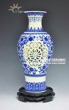 China Blue And White Porcelain Art Vase
