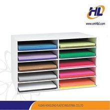 Plastic magazine holder book shelf mold