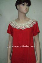short sleeve lady lace t-shirt