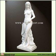 pure white marble statue