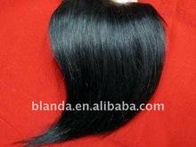 Black Inclined Bang Human Hair Extension