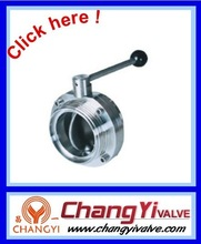 stainless steel wafer ball valve with thread and manual, italy type