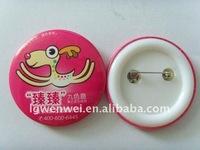 fashion plastic pin badge