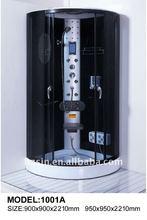luxury black wall shower cabin/shower room
