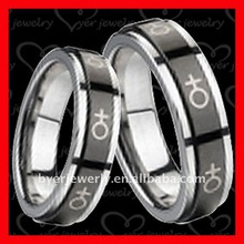Laser engraved Tungsten rings and Wedding Bands
