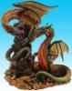 Colorful polyresin dragon figurine, home decoration
