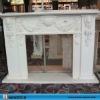 hunan white marble fireplace surround