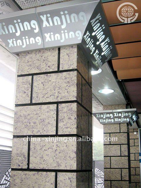 decorative aluminum false wall panel-column decoration