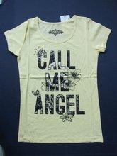 100% cotton t-shirt women custom printing t shirt