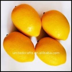 LOOK !!! 2011 BEST-SELLING artificial fake decorative plastic lemons fruit