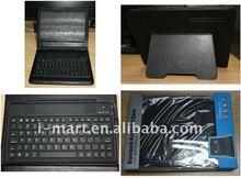 Bluetooth Keyboard Leather skin case cover For motorola xoom