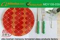Placa de cristal templada del servicio de mesa/de la porción