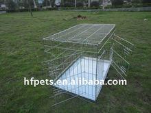 selling silver dog cage, folding dog cage