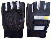 fingerless genuine sheepskin leather sports glove