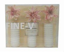 ceramic white bottle pink decorative flower diffuser, air freshener refills