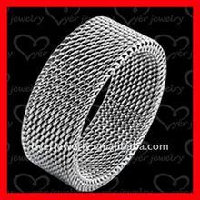 jewelry fashion titanium ring wire entangled