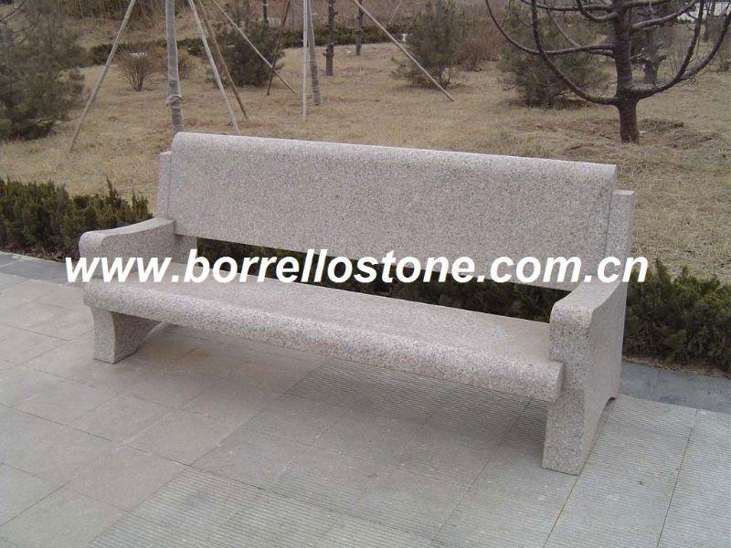 Piedra banco de parque de con bancos para el patio for Bancos de granito para jardin