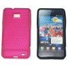Snap-on Rubber Coated Mesh silicone and PC combo Hard Case for Samsung Galaxy S2 i9100