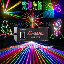 Multicolor RGB 2W full color animation stage laser light