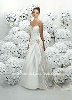 Style XZ-wd1081 halter low back beaded satin back open new model 2012 wedding dress